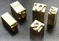 Brass Type Pieces
